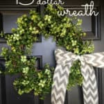 Easy Garland Wreath – The 15 Minute, 15 Dollar Wreath
