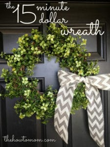 the 15 minute, 15 dollar wreath