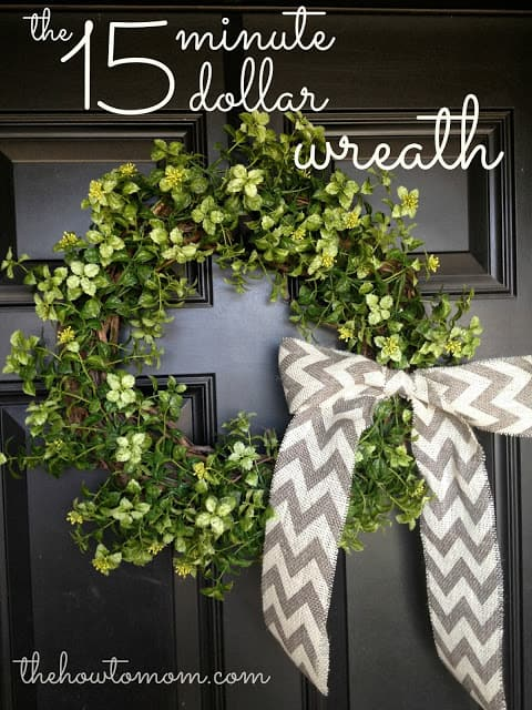 The 15 Minute, 15 Dollar Wreath - Easy garland wreath DIY