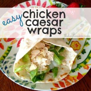 easy chicken caesar wraps (crock-pot!)