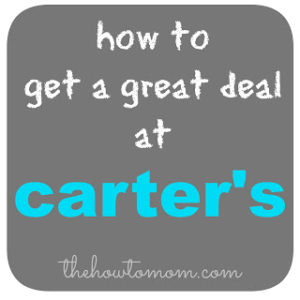 How to get a great deal at Carters