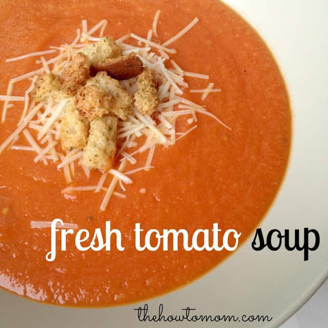 Fresh Tomato Soup - packed with deliciously ripe garden tomatoes