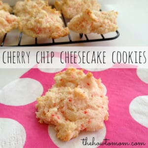 cherry chip cheesecake cookies