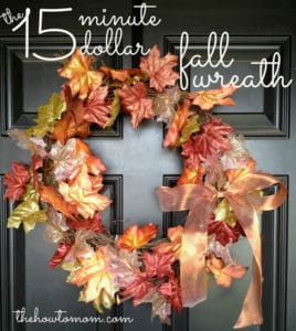 DIY Fall Wreath – The 15 Minute 15 Dollar Fall Garland Wreath