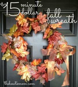 DIY Fall Wreath – The 15 Minute 15 Dollar Fall Garland Wreath
