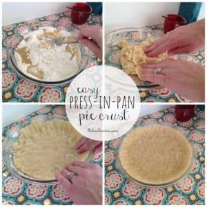 Easy Press-In-Pan Pie Crust