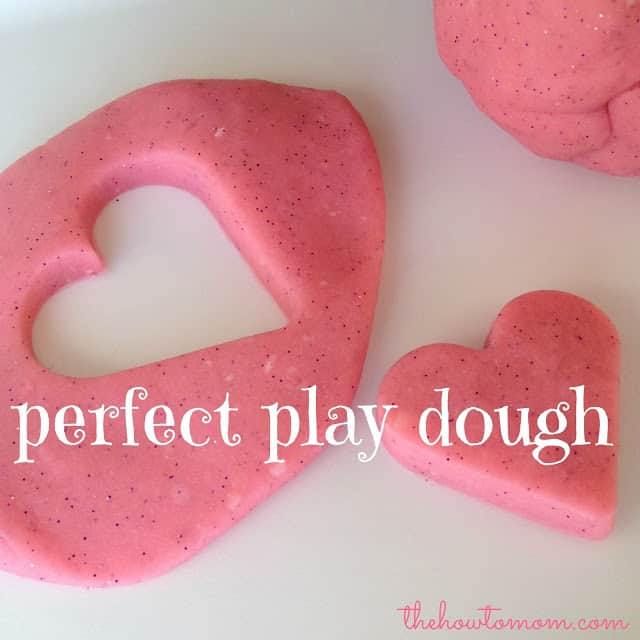 The How To Mom Perfect Play Dough, play dough with glitter