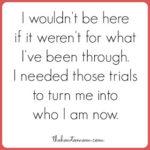 I needed those trials