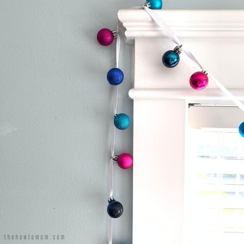 colorful christmas garland