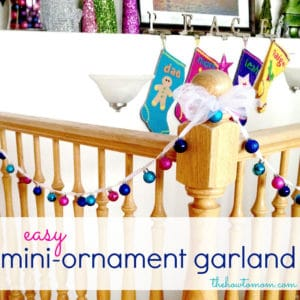Easy Mini-Ornament Garland