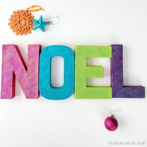 "Sparkly ""Noel"" Cardboard Letters – Christmas Craft"