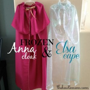 FROZEN Elsa Cape and Anna Cloak DIY Tutorial