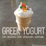 Greek Yogurt in Mini Ice Cream Cones