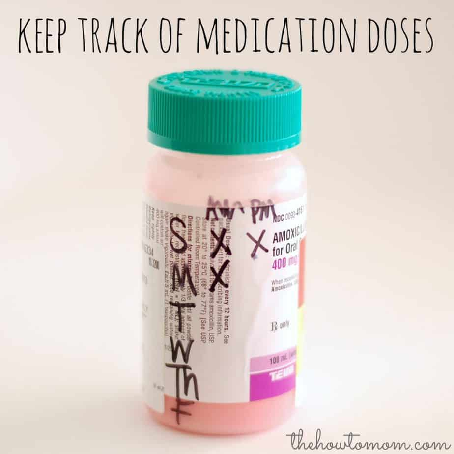 how to keep track of medication doses the how to mom