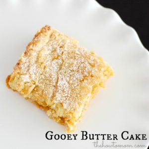 Gooey Butter Cake – And a big announcement!