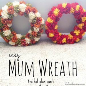 Easy Fall Mum Wreath