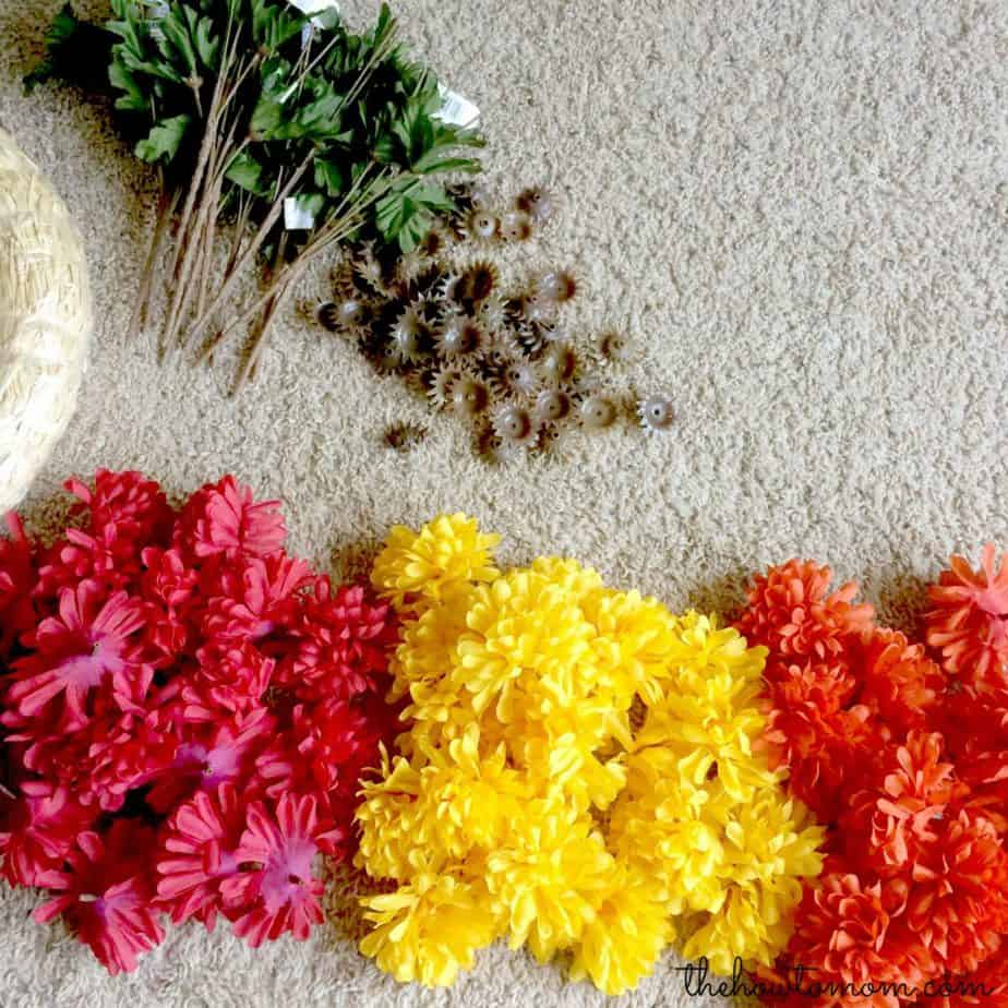take apart mums for wreath