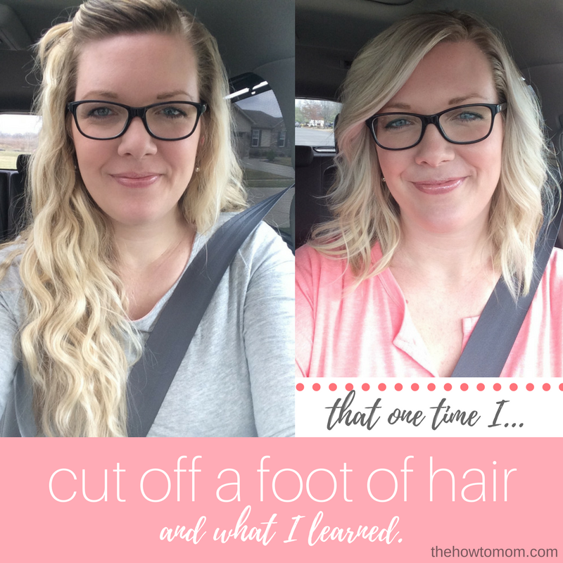 Donating hair and how to style your new shoulder-length hair