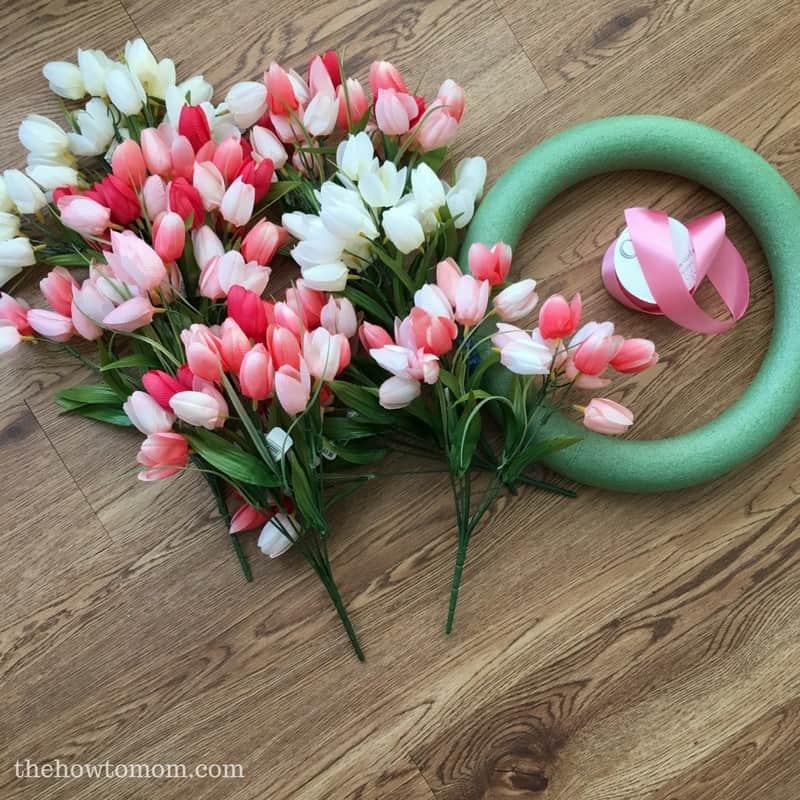 Make a Gorgeous Spring Tulip Wreath