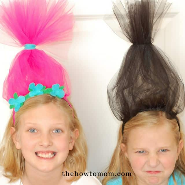 Easy DIY Trolls Inspired Headbands