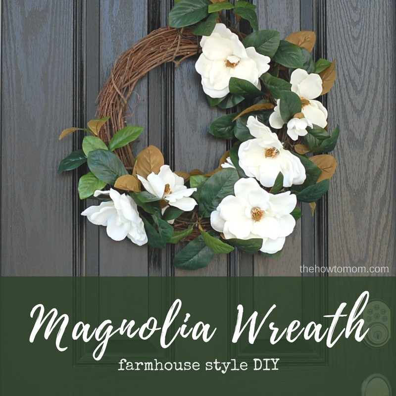 Farmhouse Style Magnolia Wreath DIY