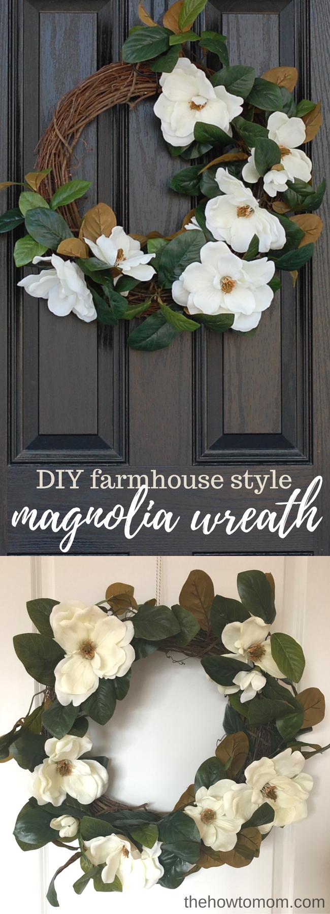 Farmhouse Style Magnolia Wreath - Easy DIY