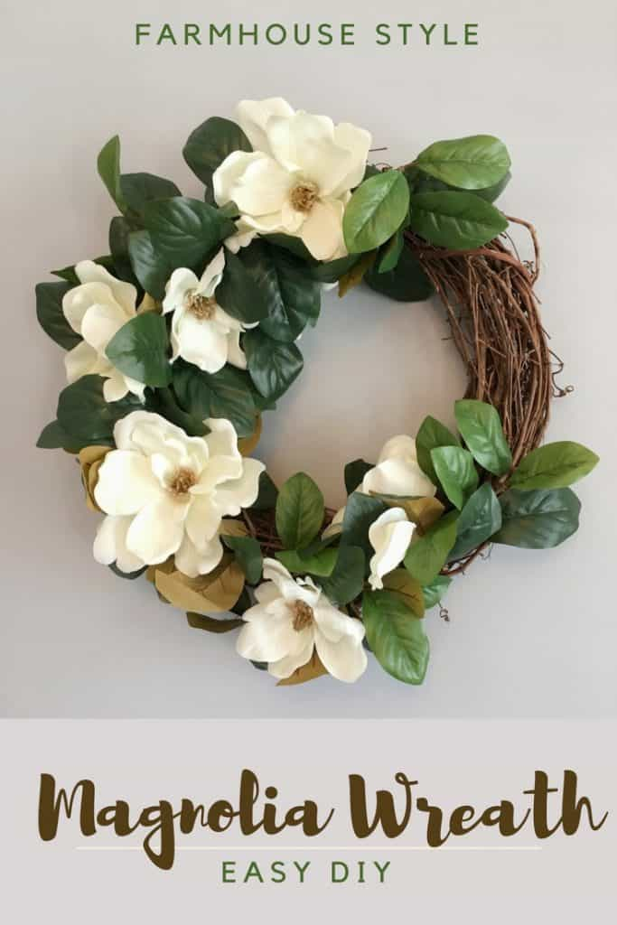 Magnolia Wreath DIY - Easy Farmhouse Style