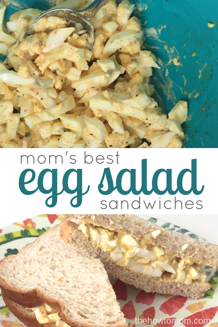 The best classic egg salad - just like mom makes!