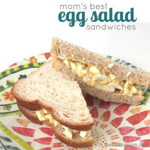 Mom's Best Egg Salad Sandwiches