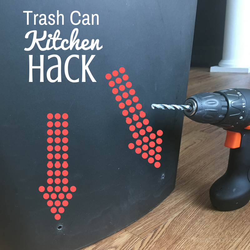 Kitchen Hacks Facebook: Kitchen Hack - Drill Holes Into Your Trash Can