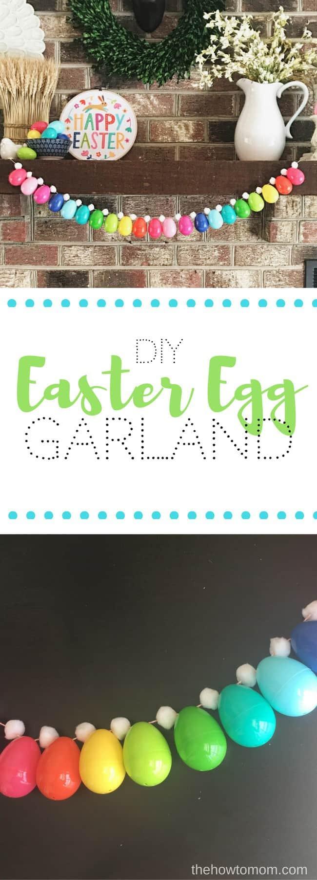 Easy Easter Egg Garland DIY