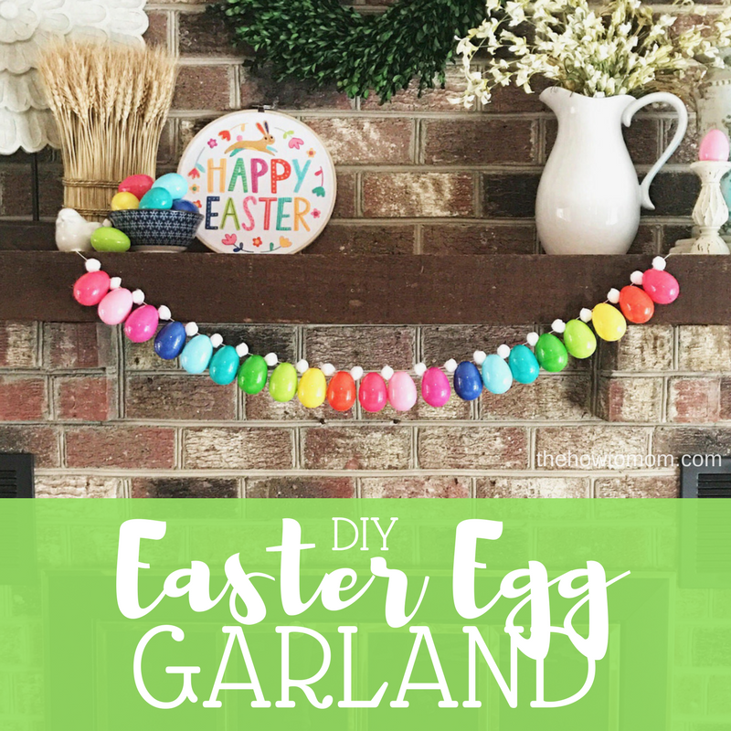 Colorful Easter Egg Garland DIY