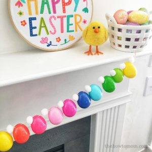 Bright and Colorful Easter Egg Garland