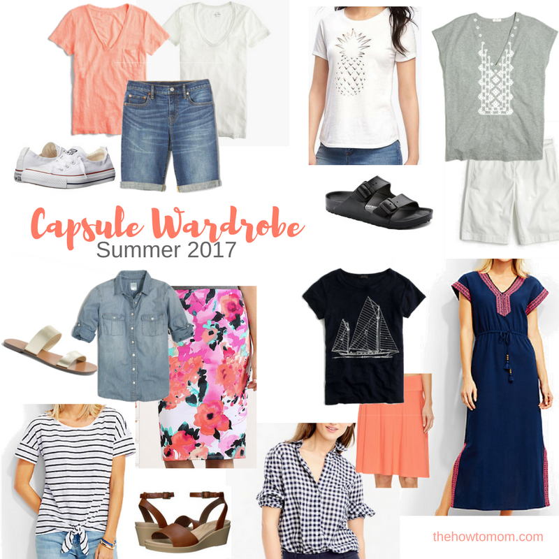 Summer 2017 Capsule Wardrobe The How To Mom