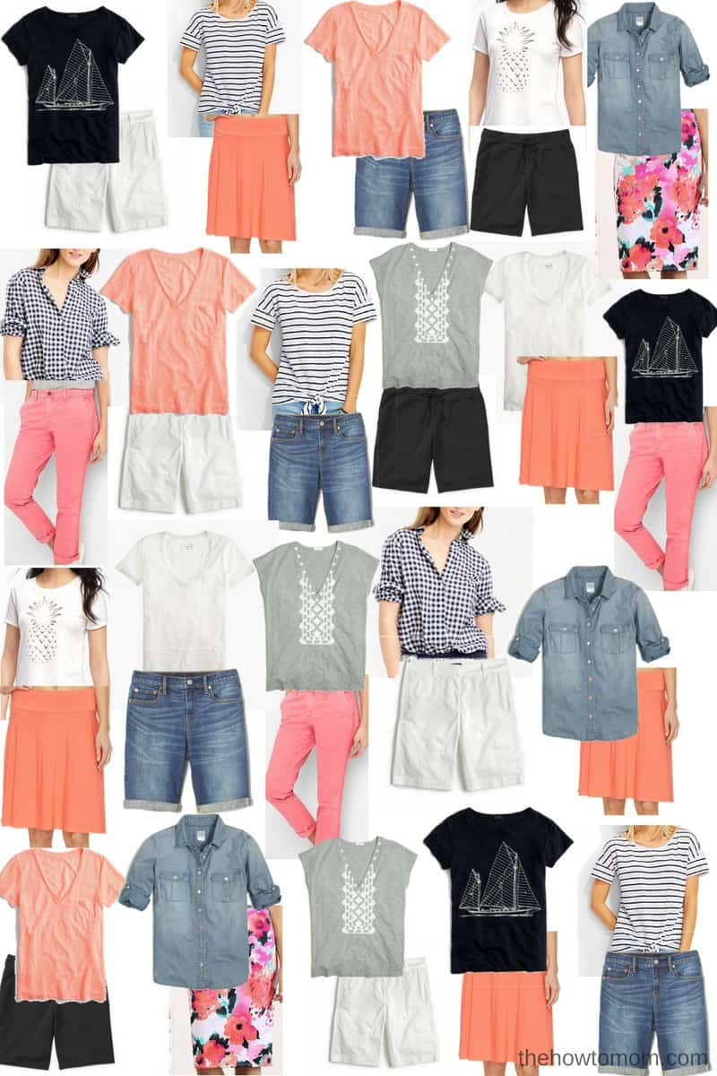 Capsule Wardrobe - Summer Outfit Ideas for Modest Young Moms