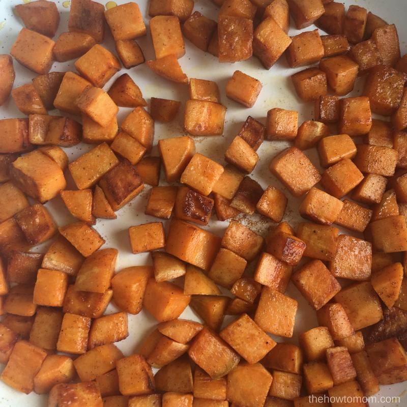Cinnamon Sugar Sweet Potato Hash