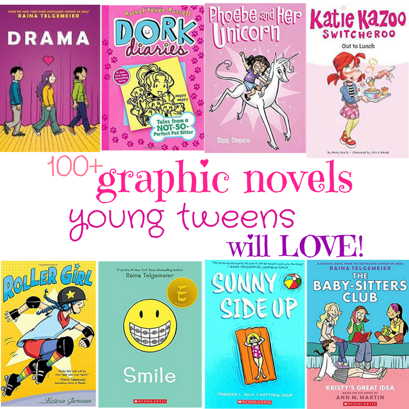 Over 100 Graphic Novels Young Tweens will LOVE