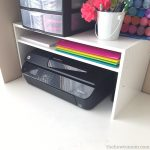 Organization Hack –  DIY Desktop Printer Shelf from a Shoe Rack