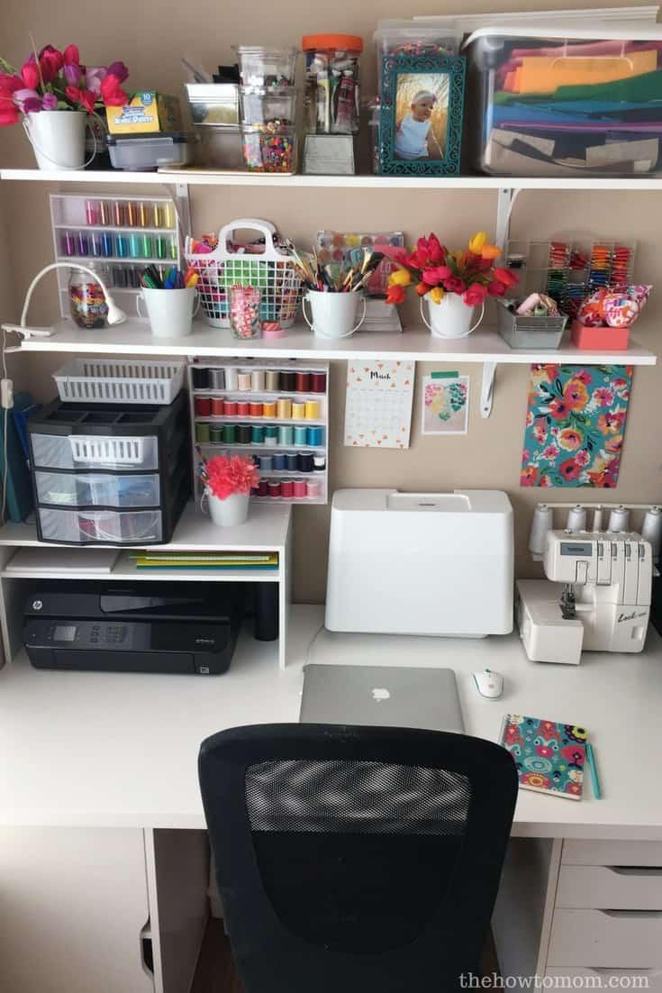 Organization Hack Diy Desktop Printer Shelf From A Shoe
