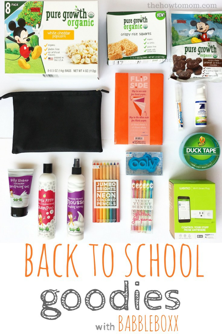 Back to School Goodies and Good Ideas with BabbleBoxx