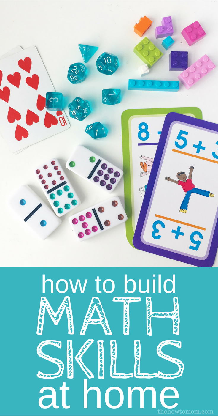How to Build Math Skills at Home - no fuss, no prep, hands on ideas!