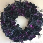 Spider and Black Rose Halloween Wreath DIY
