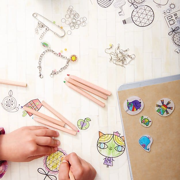 Gift Ideas for Crafty Girls - Shrinking Trinkets Kit
