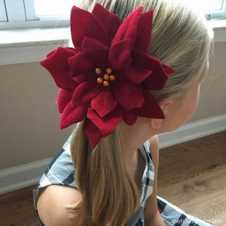 Poinsettia Hair Clip DIY - Dollar Tree Craft