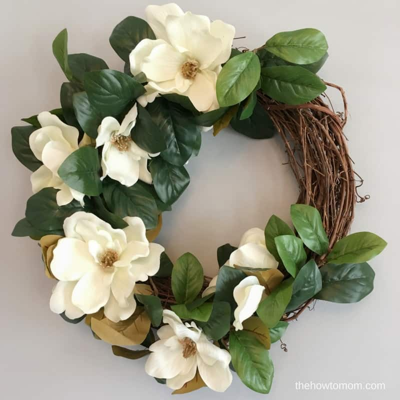 DIY Magnolia Wreath - Easy Farmhouse Style