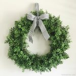 How to Make a Faux Boxwood Wreath - Easy!