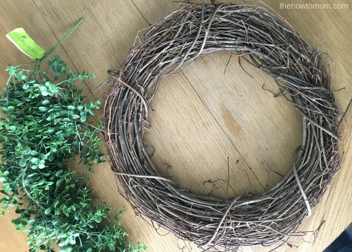 How to make a faux boxwood wreath - supplies needed