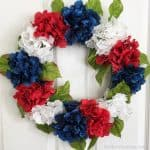Easy 4th of July DIY - Patriotic Hydrangea Wreath
