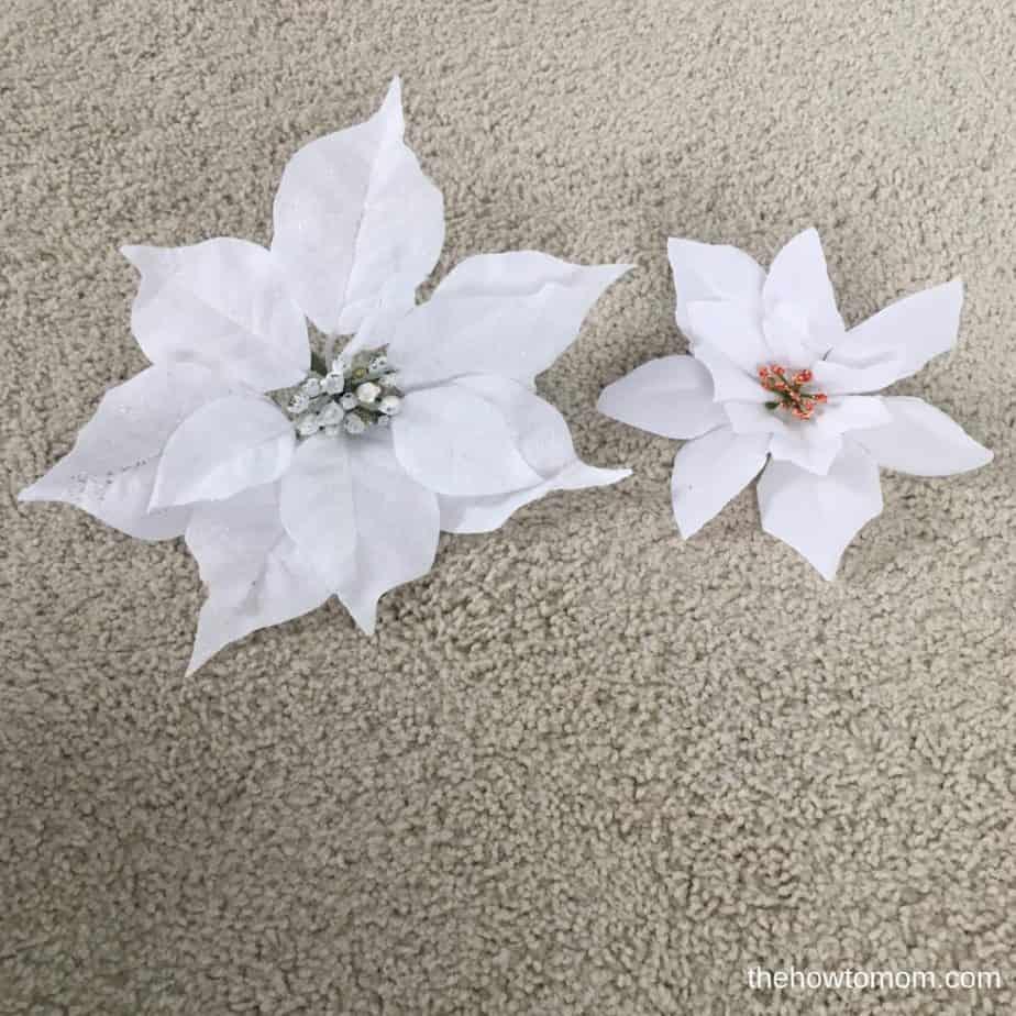 How to make an easy poinsettia wreath