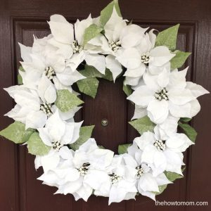 How to Make a Poinsettia Wreath